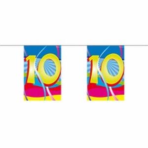 10 jaar, Mini vlaggenlijn Swirls, 4 meter