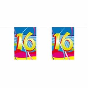 16 jaar, Mini vlaggenlijn Swirls, 4 meter