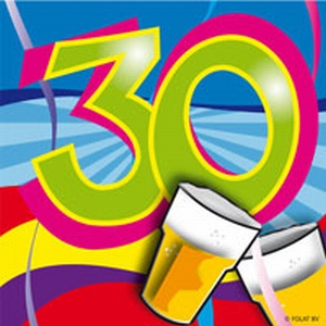 30 jaar, Swirl Servetten, 20 stuks