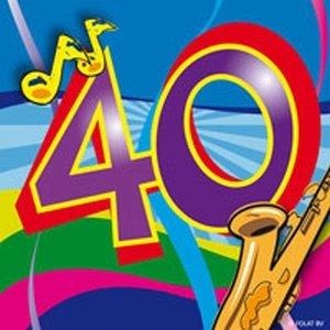 40 jaar, Swirl Servetten, 20 stuks