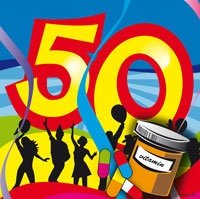 50 jaar, Swirl Servetten, 20 stuks