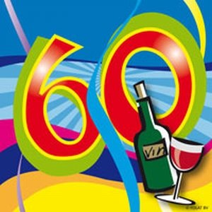 60 jaar, Swirl Servetten, 20 stuks