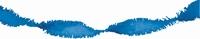 Blauw Guirlande crepe slinger, 24 meter