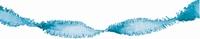 Blauw:Lichtblauw Guirlande crepe slinger, 24 meter