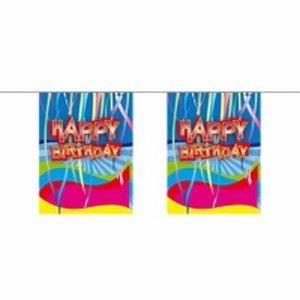Mini vlaggenlijn, Happy Birthday, 4 meter