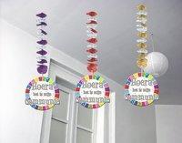Hangdecoratie hoera het is mijn eerste communie Sparkles, 3 stuks