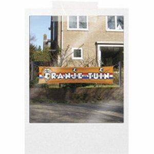 Straatbanner Oranje Tuin 180x40cm