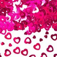 Tafeldecoratie sier confetti hartjes pink, 14 gram