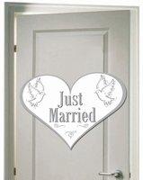 'Just Married' Deurbord