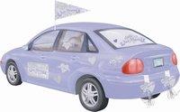 Auto Decoratie kit 'Just married', 15 delig