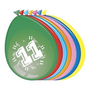 11 jaar, ballonnen, 8 stuks