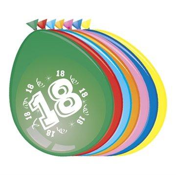 18 jaar, Ballonnen, 8 stuks, assorti