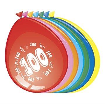 100 jaar, Ballonnen, 8 stuks, assorti