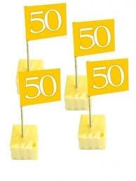 50 jaar, goud Prikkers, 50 stuks