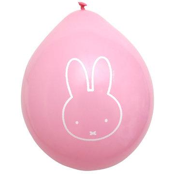 Nijntje ballonnen roze 6 stuks, 27 cm