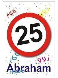 Raamsticker statisch 25 halve Abraham
