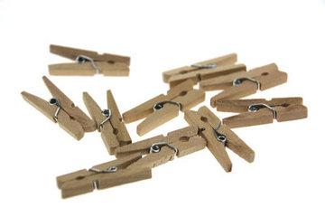 Naturel Wasknijpers mini, 20 stuks