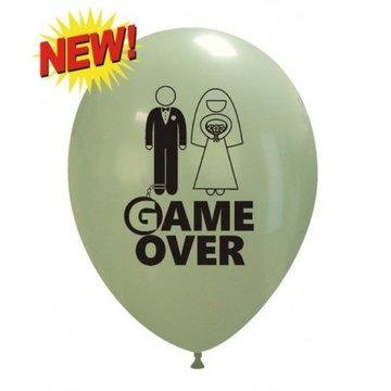 Ballon Game Over opdruk assorti 30 cm, 10 stuks