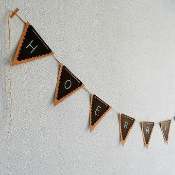 Vlaggenlijn DIY met krijt en touw
