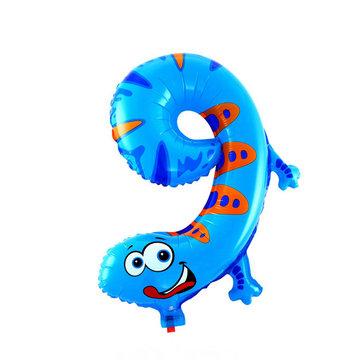 9 Zooloon folieballon Gekko, ca. 35 cm