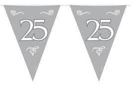 25 jaar, zilver Vlaggenlijn, 10 meter