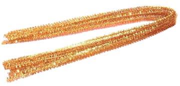 Chenille draad goud, 5 stuks