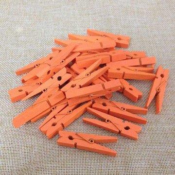 Oranje:Licht oranje Wasknijpers mini, 20 stuks
