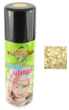 Haarspray goud glitter, 125 ml