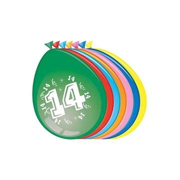 14 jaar, ballonnen, 8 stuks