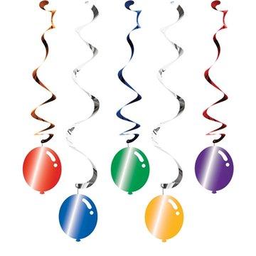 Hangdecoratie balloon blast 5 hangers
