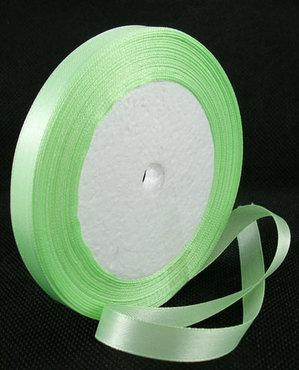 Groen:limegroen Satijn lint, 6mm, rol 23 m