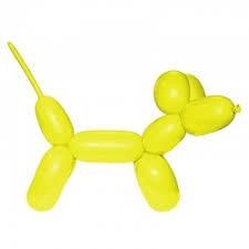 Geel Modelleerballon 2x60