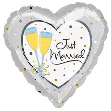 Just Married Hart Folieballon Champagne