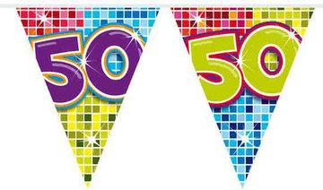 50 jaar, Vlaggenlijn Birthday Blocks,6 meter