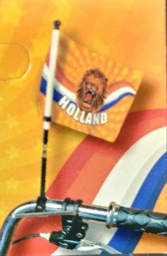 Fietsvlag Oranje Leeuw, 15x20 cm