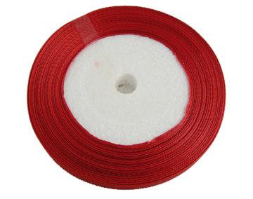 Rood Satijn lint, 6mm, rol 23 m