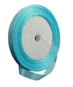 Blauw:lichtblauw Satijn lint, 6mm, rol 23 m