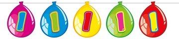 1 jaar, Vlaggenlijn ballonnen, 10 meter