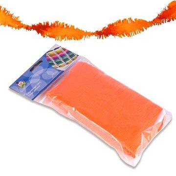 Oranje Fluor Guirlande crepe slinger, 6 meter