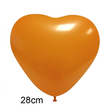 Oranje Hart Ballon (28cm)