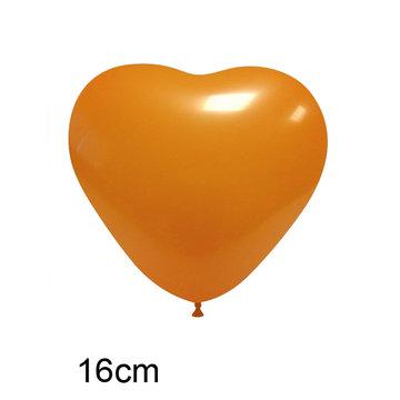 Oranje Hart Ballon  klein, 16cm