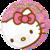 Happy birthday Hello Kitty folieballon