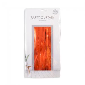 Party deurgordijn oranje, 240x100 cm