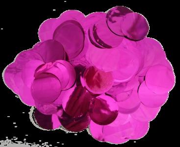 Confetti XL roze fuchsia metallic