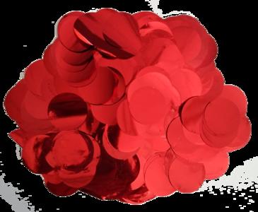 Confetti XL rood metallic