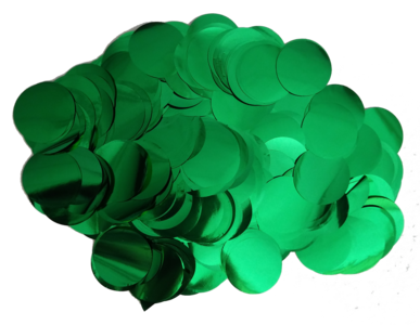 Confetti XL groen metallic