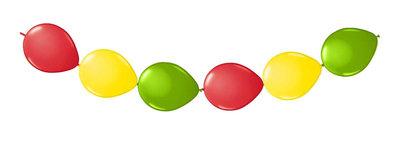 Ballonnen slinger knoop ballonnen rood-geel-groen Carnaval
