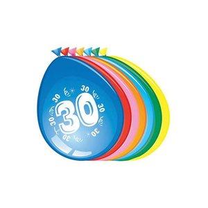 Ballonnen 30 jaar assorti
