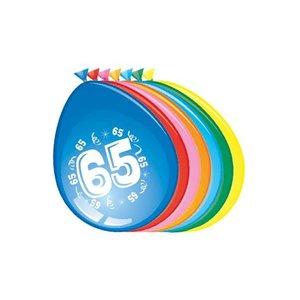 Ballonnen 65 jaar, 8 stuks