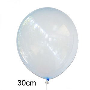 crystal clear ballon blauw, 30cm